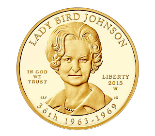 US Gold Coins Lady Bird Johnson 10 Dollars First Spouse Gold Coin