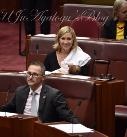 Australian Senator, Larissa Waters Breaks History By Breastfeeding Baby In Parliament