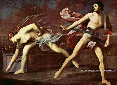 Intermezzo musicale di Atalanta e Ippomene - Guido Reni-fotomontaggi di dipinti classici