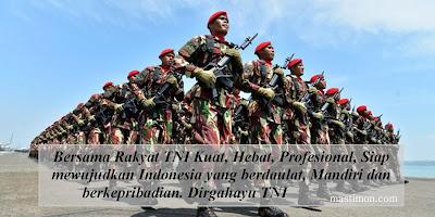 Kartu ucapan HUT TNI ke 72 untuk BBM, Facebook, Instagram, Twitter dan WA