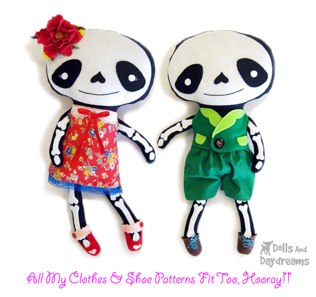 Dolls And Daydreams - Doll And Softie PDF Sewing Patterns: Skeleton ...