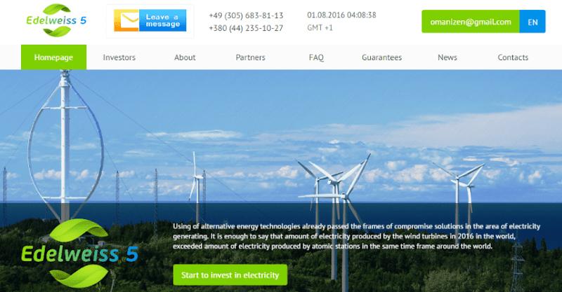 [SCAM] Review Edelweiss5 - Site đầu tư lâu dài - Lãi ngày 0.5-3% cho 365 ngày - Min Dep 50$ - Min Pay 0.2$ - Thanh toán tự động