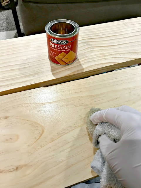 Minwax prestain conditioner before staining