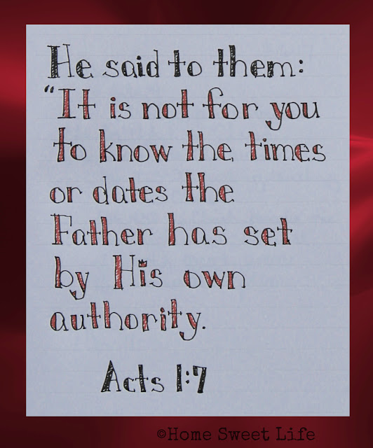 Scripture Writing, Acts 1:7
