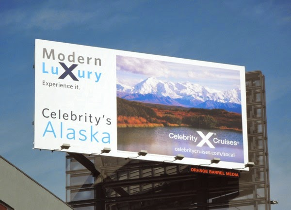 Celebrity Cruises Alaska billboard