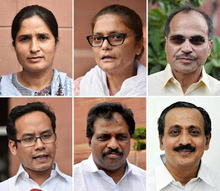 six-congress-mps-suspended-from-lok-sabha-for-five-days
