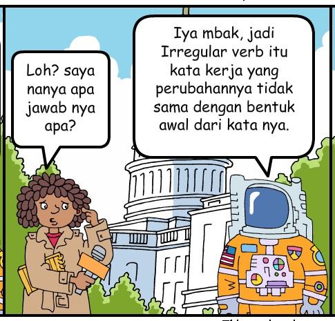 irregular dan regular verb, belajar grammar, bahasa inggris