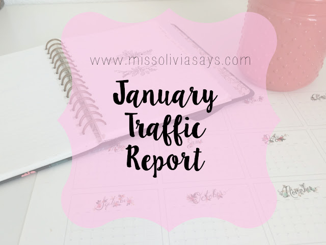 January blog traffic report: see how many pageviews I received at Miss Olivia Says last month!