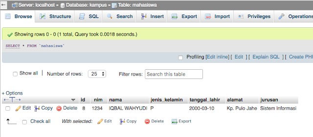 tutorial crud php mysql sederhana