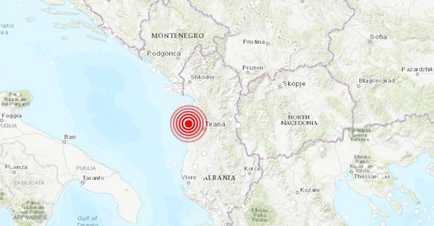Terremoto en Albania de Magnitud 6.4 (Hoy Lunes 25 Noviembre 2019) Sismo - Temblor - Epicentro - Shijak - USGS - www.earthquake.usgs.gov
