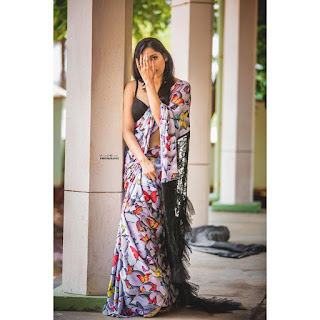 Actress Rashmi Gautam New Saree Photoshoot Stills Gallery
