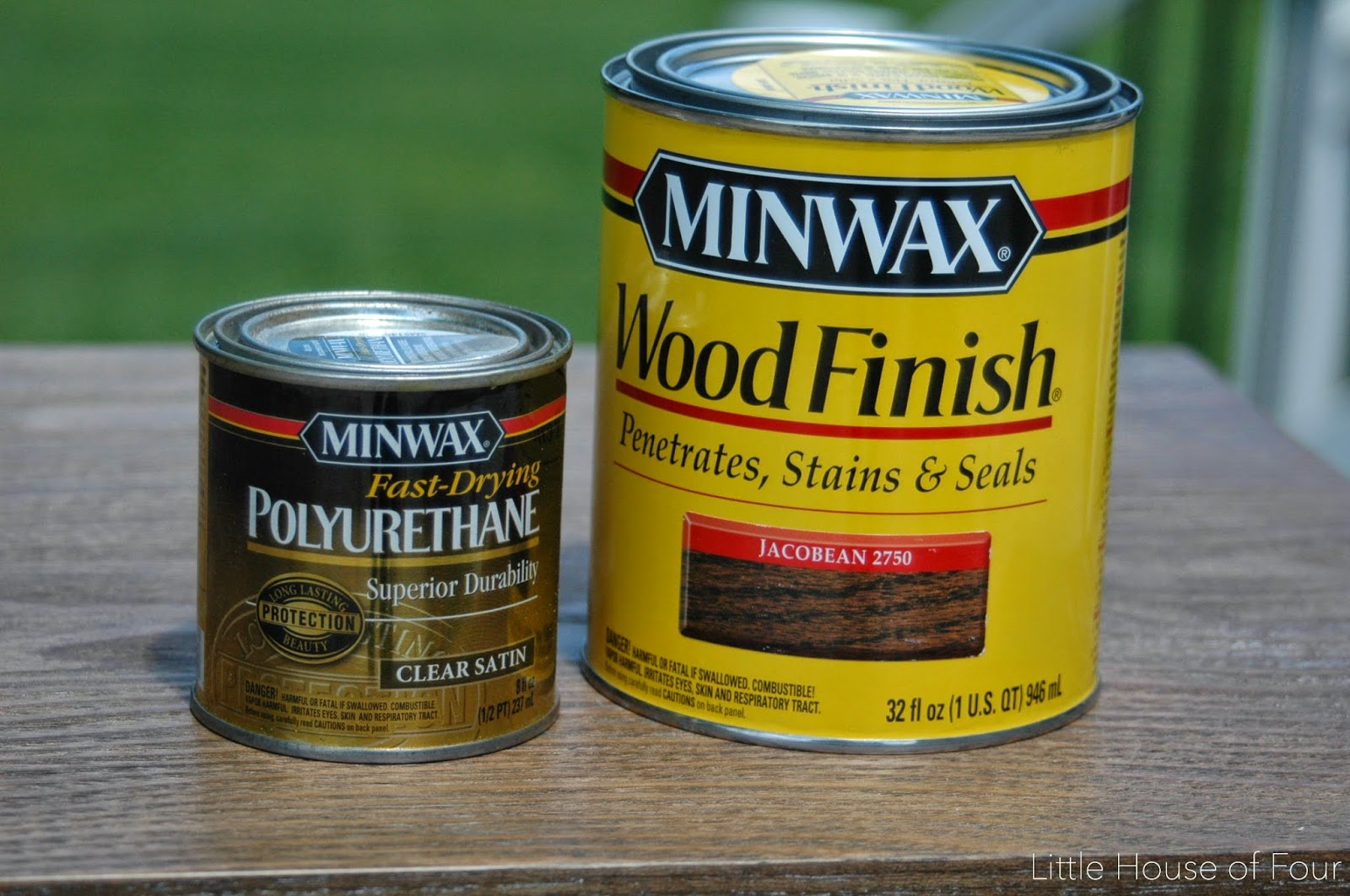 Minwax stain and polyurethane