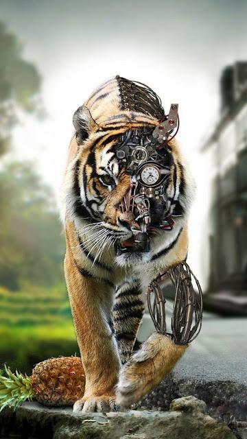 tigre, tecnologia, robot