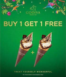GODIVA霜淇淋/折價券/優惠券/coupon
