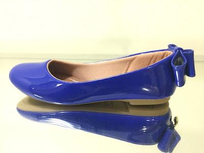 sapatilha azul linda bonita elegante moderna moda fashion retro rasteira caçado feminino sapato mulher laço verniz