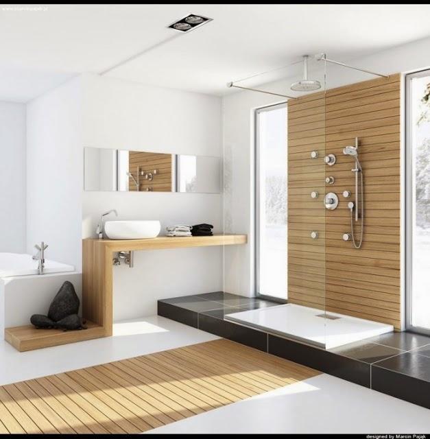 ba os modernos tipo spa colores en casa