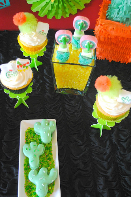 Bold bright desserts  at this Fiesta party styled by Fizzy Party