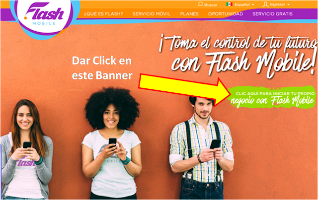 Como Registrarse en Flash Mobile paso 2