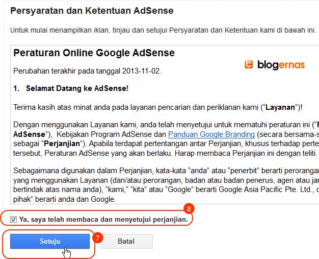 Cara Daftar ke Google Adsense Full Gambar