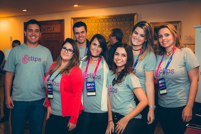 Maria Eduarda Paschoal e equipe do iClips