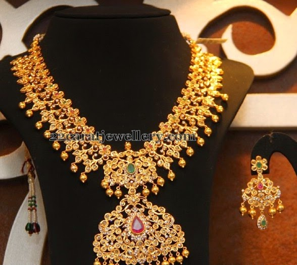 Malabar Gold Uncut Broad Haram - Jewellery Designs