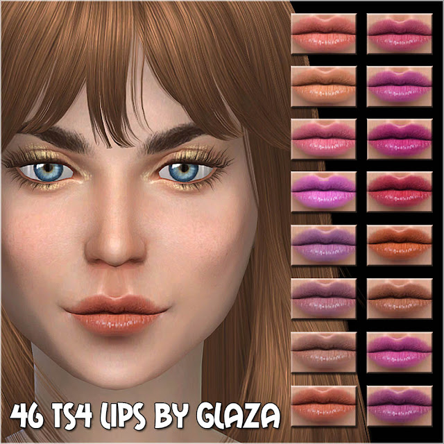 46 ts4 lips by glaza