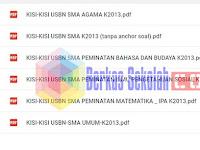 Kisi-Kisi USBN SMA-MA 2018 Kurikulum 2013 Lengkap