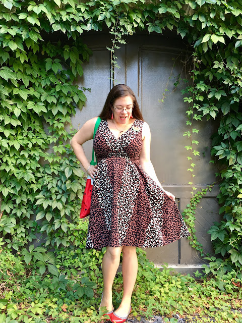 Pinup Girl Clothing leopard Scrumptious dress