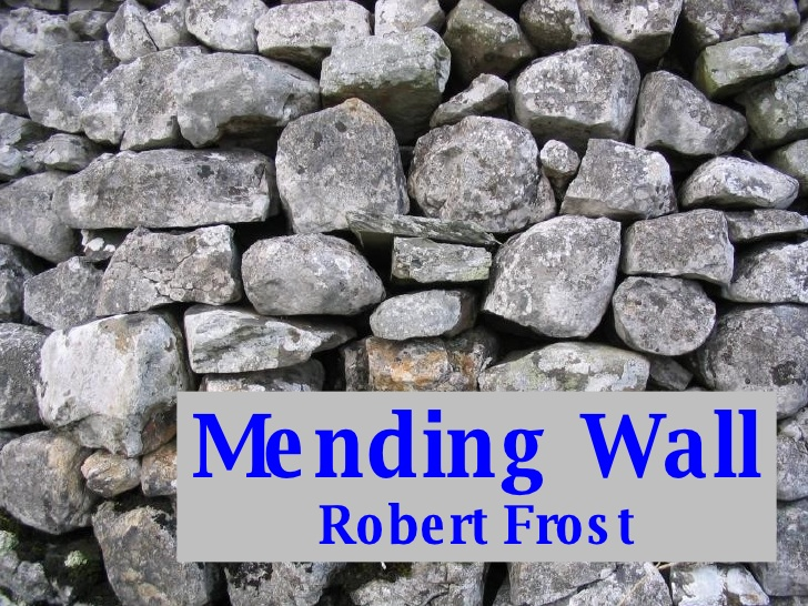 The mending wall by robert frost