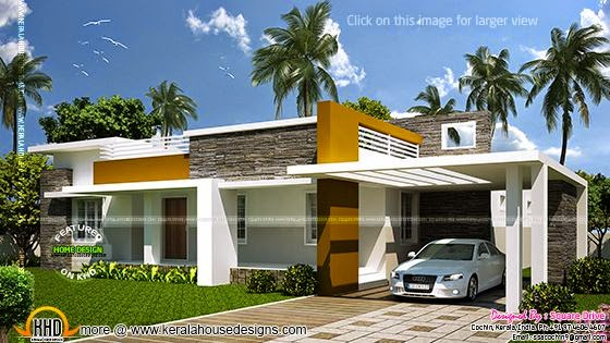 Contemporary single storied house
