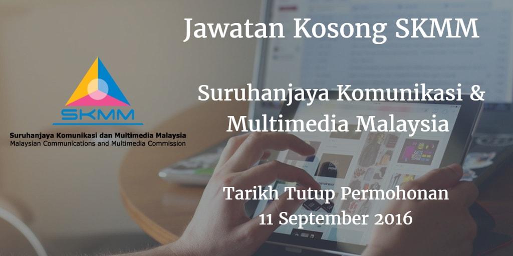 Jawatan Kosong SKMM 11 September 2016