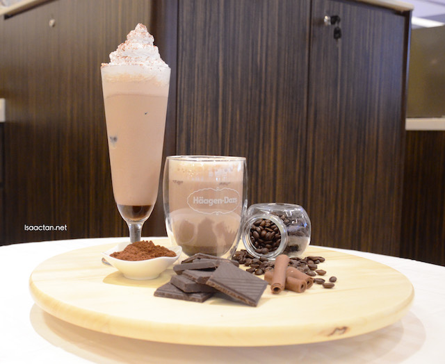 Chocolate flavoured latte