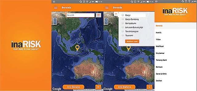 inarisk Personal - Aplikasi Tanggap Darurat Menghadapi Bencana Alam