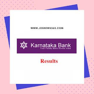 Karnataka Bank Results 2019 for Probationary Officer Interview result published