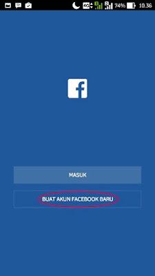 Facebook4 cara buat akun FB via android