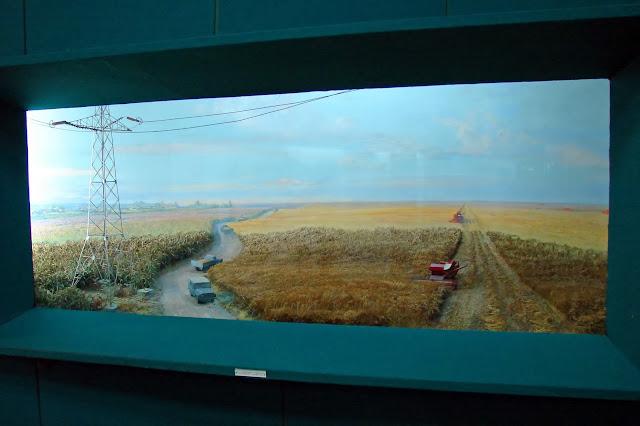 Диорама - урожай в поле