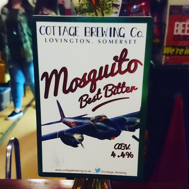 Somerset Craft Beer Review: Mosquito from Cottage Brewing real ale pump clip