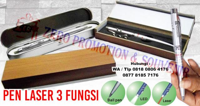 PEN LASER 3 FUNGSI, Pen Promosi Laser 3 Fungsi, Pen Laser 3 Fungsi Box Kayu, PEN 3 IN 1( Pen, Laser, Senter ) KOTAK KALENG
