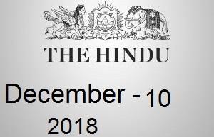 The Hindu Newspaper Today 10 December 2018 Download PDF