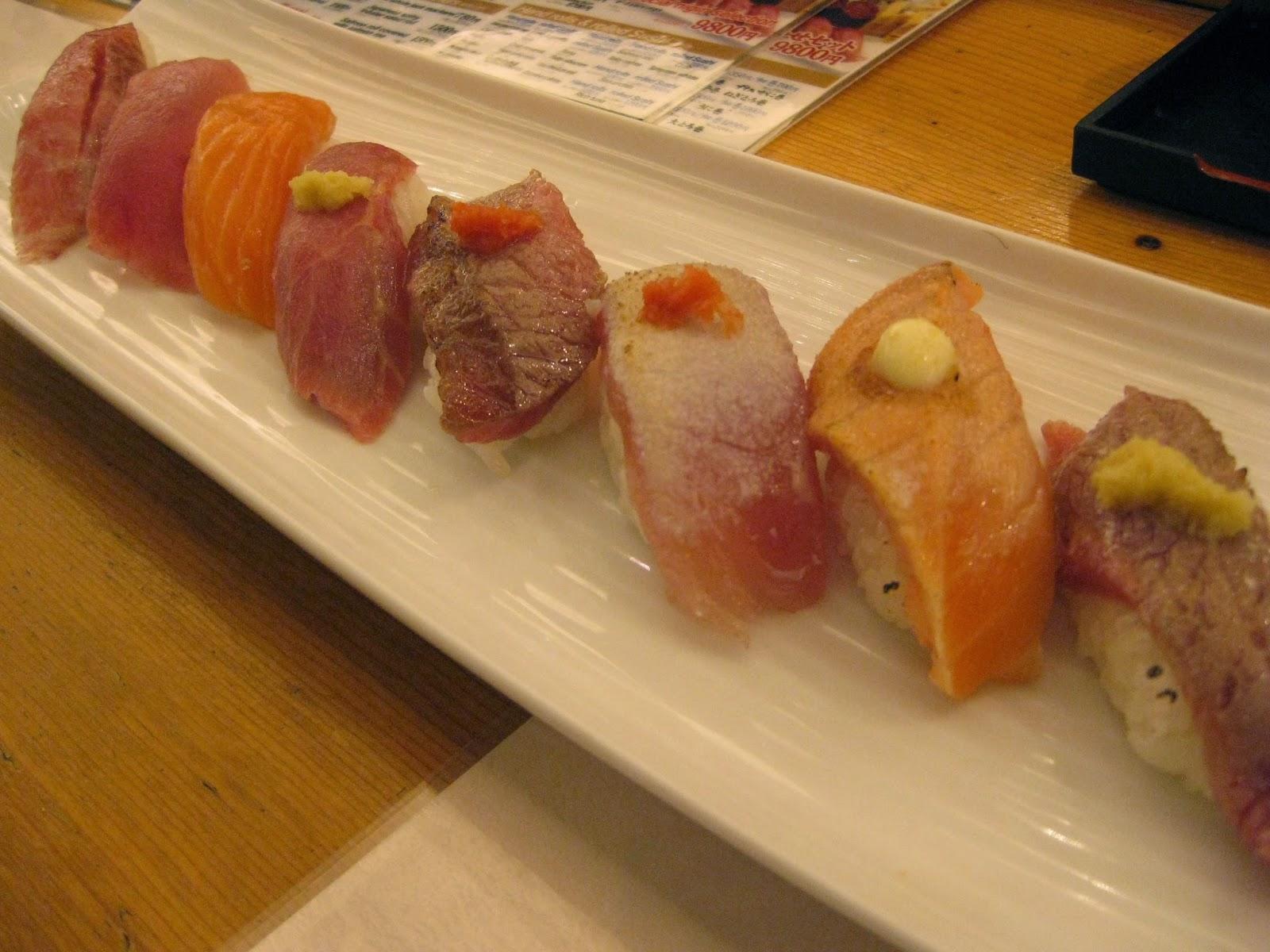 Tokyo - Dinner #1 of sushi