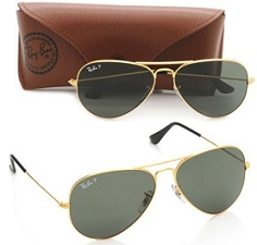 Ray-Ban Aviator Sunglasses (Natural Green) (RB3025 001/58 55) worth Rs.7790 for Rs.4492 Only @ Amazon