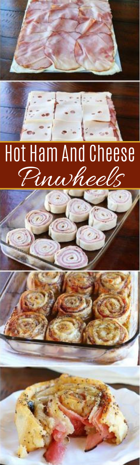 Hot Ham And Cheese Pinwheels #dinner #partyfood