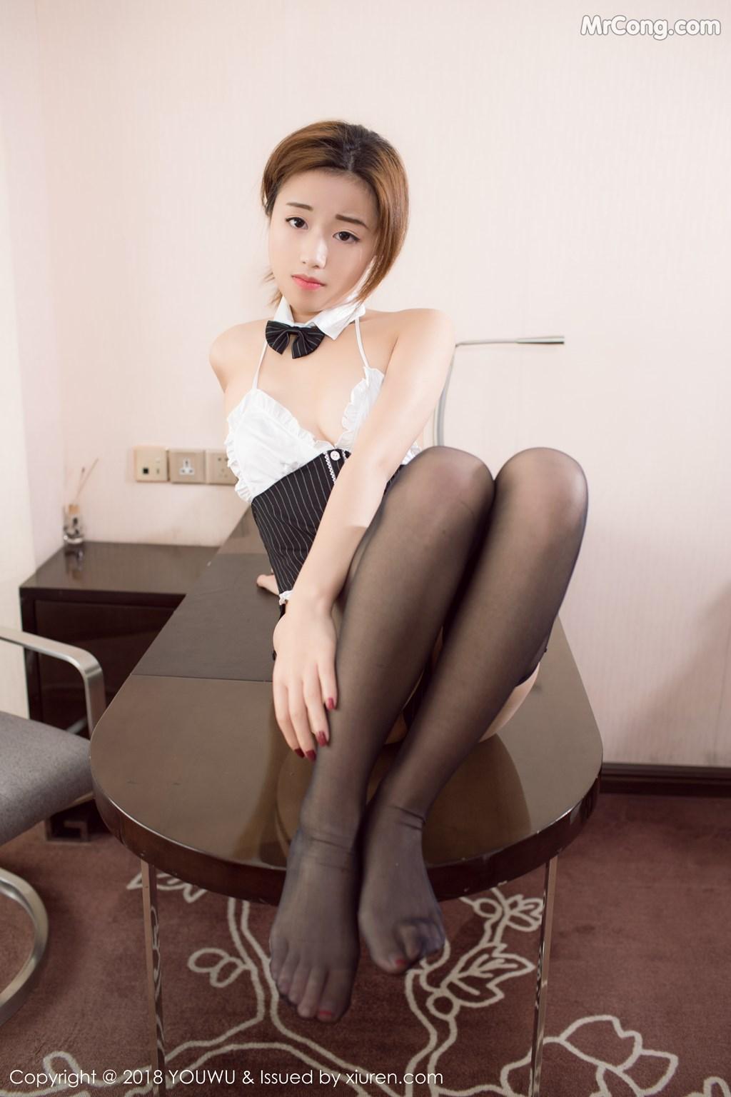 Image YouWu-Vol.090-Cang-Jing-You-Xiang-MrCong.com-002 in post YouWu Vol.090: Người mẫu Cang Jing You Xiang (仓井优香) (43 ảnh)