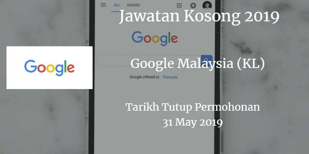 Jawatan Kosong Google Malaysia (KL) 31 May 2019