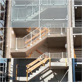 Baufortschritt eines Treppenhauses