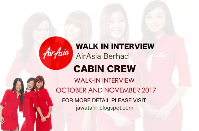 Walk-in Interview Cabin Crew AirAsia Berhad