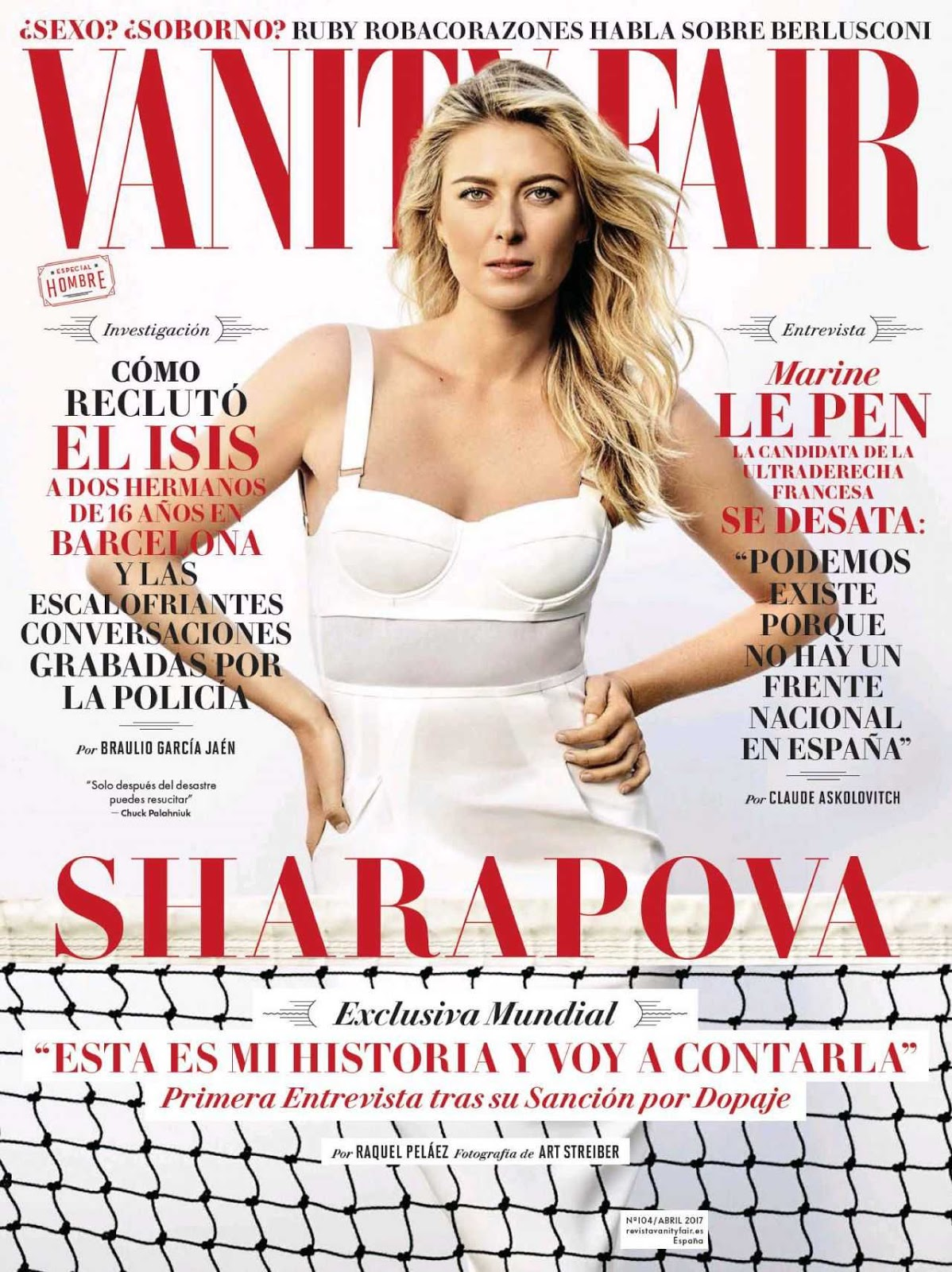 Maria Sharapova poses for VF Magazine Spain April 2017
