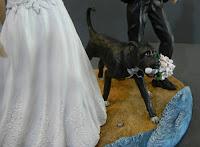 statuette per torta personalizzate cake topper cane corre orme magiche