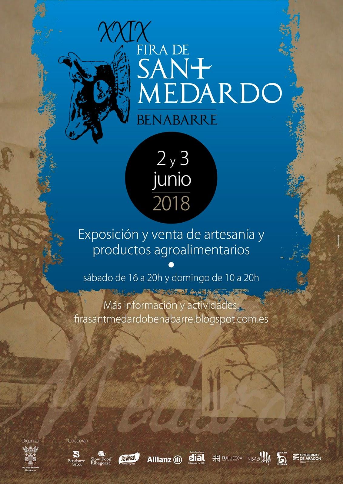 Cartell de la Fira de Sant Medard de l'any 2018. Benavarri, Ribagorça. Osca, Aragó. Montsec de l'Estall