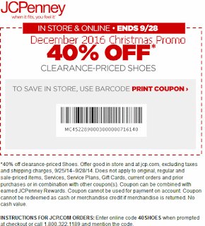 JcPenney coupons december 2016